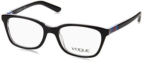 Vogue VO2967 Eyeglass Frames W827-45 - Top Black/Transparent - Vogue Black Glasses