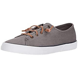 Sperry Womens Pier View Sneaker, Grey, 8.5