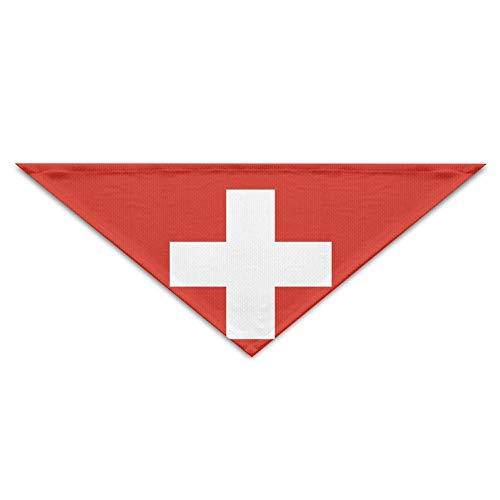 (BAGT Swiss Flag Bandana Triangle Neckerchief Bibs Scarfs Accessories for Pet Cats and Baby Puppies The Saliva Dog Towel)
