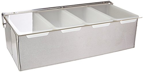 (New Star Foodservice 48025 Stainless Steel Condiment Dispenser with 4 Compartments)