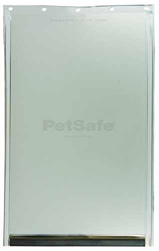 "PetSafe Dog and Cat Door Replacement Flap, Large, 10 1/8"" x 16 7/8"", PAC11-11039, Tinted Vinyl, Magnetic"