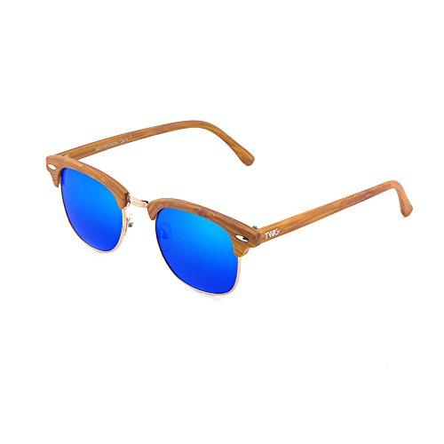 de Azul TWIG hombre sol estilo Gafas madera DEGAS mujer Chestnut CqSZ74xdw