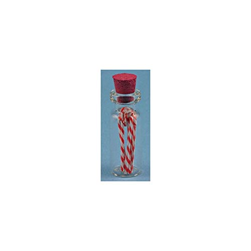 Dollhouse Miniature Candy Cane Jar, 1pk