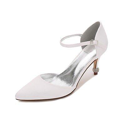 Rhinestone Shoes Flat Women'S CN39 US8 Dress Satin Party Wedding Summer Wedding UK6 Blue Spring Evening Comfort Ruby Heelivory Champagne EU39 Bowknot amp;Amp; 55rxPnO14