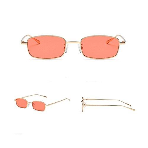 de Marca unisex Brillo Polarizado Moda Espejo Sunglass Mujer cuadradas Marco Sol de Gafas G sol grande UV de Lentes Clásico clásica Gafas Gafas Portección sol qIx4RwvF