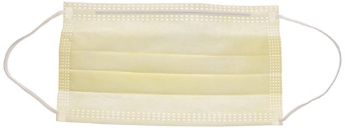 Precept 15110 Procedure Face Mask, Yellow (Pack of 50)