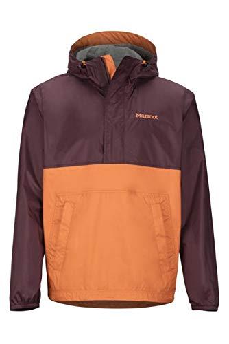 Marmot PreCip Eco Anorak – Men's, Burgundy/Mandarin Orange, Small, 41520-7136-S