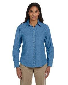- Harriton Womens Long-Sleeve Denim Shirt (M550W) -LIGHT DENI -L