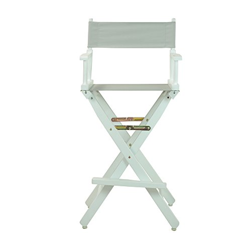Casual-Home-30-Inch-Director-Chair-White-Frame-Gray-Canvas