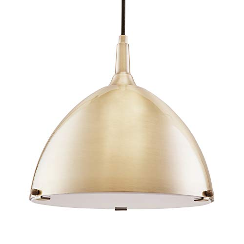 Pendant Light - Art Deco Style - Adjustable Hanging Height (Brass - Dining Room Furniture Above