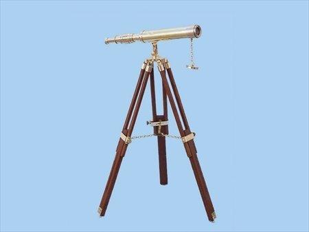 手作りモデル船st-0137 – Plain Floor Standing真鍮Harborマスター望遠鏡30 in。望遠鏡装飾アクセント   B003AZ2B6S