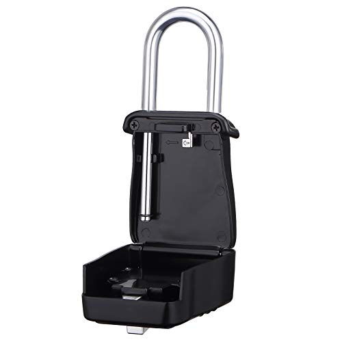 Champs Combination Realtor Lock, 4 Digit Comination Padlock, Real Estate Key Lock Box, Set-Your-Own Combination [12 Packs, Black] by Champs (Image #3)