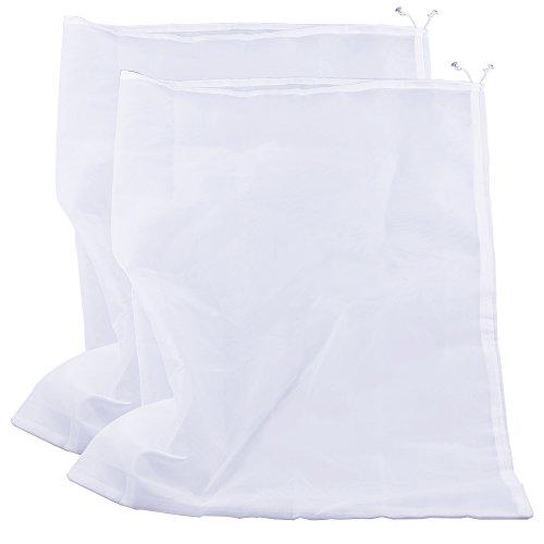 (Pinfox 75 Micron Nylon Straining Bag Fine Mesh Food Strainer Bag, Multi Purpose Food Grade Filter Bag for Nut Milk, Juice, Cold Brew, Home Brewing (25.39