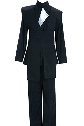 [Halloween Return of the Jedi Luke Skywalker Suit Cosplay Costume Outfit Uniform Black] (Luke Skywalker Costume Black Kids)