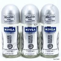 Nivea for Men Deo 48h Argent Protégez Antiperspirant Déodorant Roll-on 50ml (3pcs / paquet)