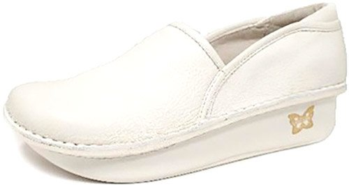 Alegria Women's debra Slip-On,White Napa,39 EU/9-9.5 M US (Jane Nursing White Mary Shoes)
