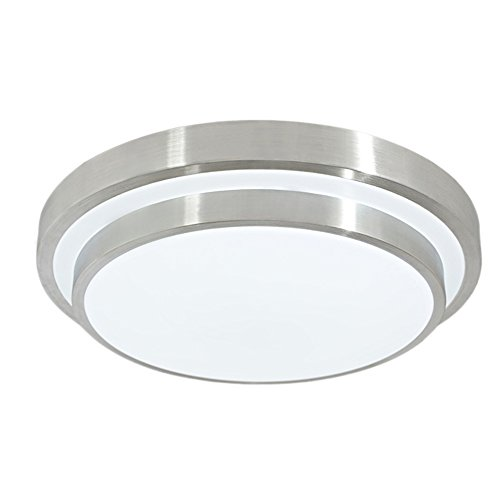 GLW 12W 10 inch 6000K Ceiling Light Cool White Round Flush Mount Lighting Ceilinglight for Kitchen Bedroom Dining Room 1000LM 100W Halogen Bulb Equivalent