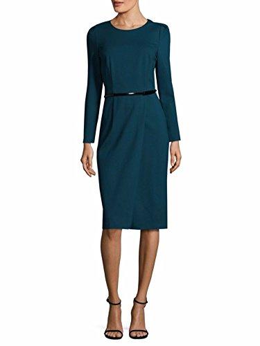 David Meister Women's Long Sleeve Cocktail Dress 8 Teal