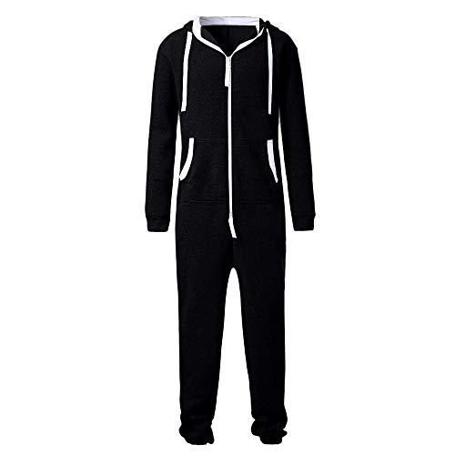 Jogging Mcys Suit Combinaison Combinaison One Jogger Sports unisexe Pyjama Piece Garment Foot Noir Blouse Survêtement Survêtement 354ARqjL