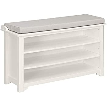Outstanding White Ameriwood Home Parsons Storage Bench Hallway Furniture Camellatalisay Diy Chair Ideas Camellatalisaycom