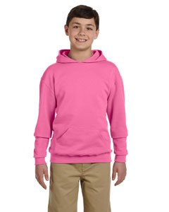 (Jerzees Nublend Youth Pullover Hooded Sweatshirt (Neon Pink) (S))