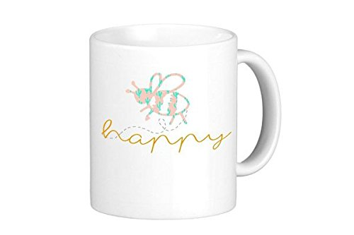 [Oh, Susannah Bee Happy Mug - 11oz Coffee Mug] (Animal That Starts With J)