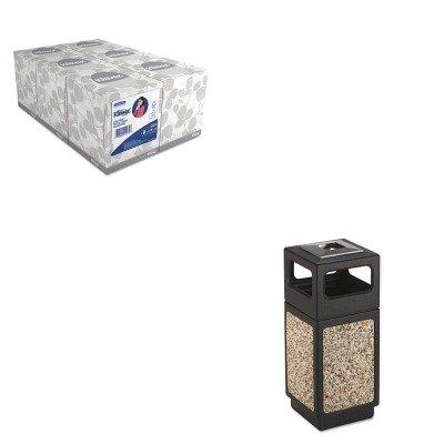 KITKIM21271SAF9470NC - Value Kit - Safco Canmeleon Ash/Trash Receptacle (SAF9470NC) and KIMBERLY CLARK KLEENEX White Facial Tissue (KIM21271)