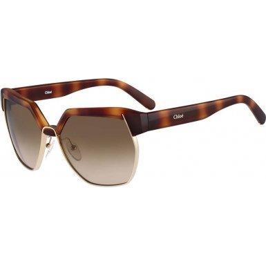 Chloe CE665S 214 Light Havana Dafne Wayfarer Sunglasses Lens Category - Sunglasses Chloe Wayfarer