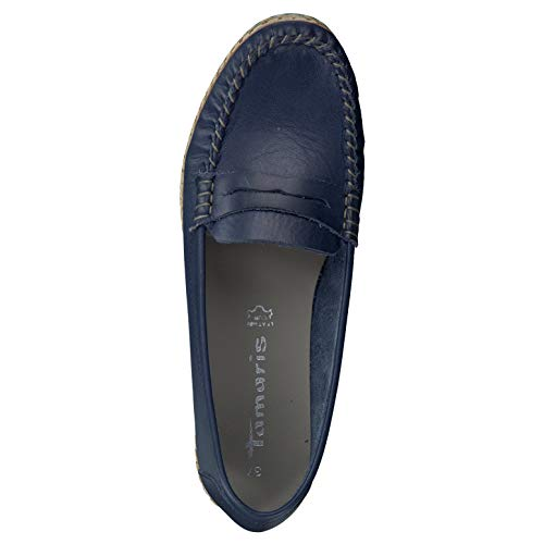 24643 Damen Blau 28 Bequeme Optik 1 Frau Slipper modebewusste Halbschuhe Sommerschuhe Tamaris 1 für Schuhe Espandrill qYCUtU