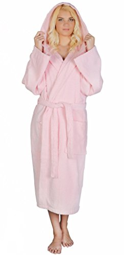 Arus Women's Classic Hooded Bathrobe Turkish Cotton Terry Cloth Robe ()