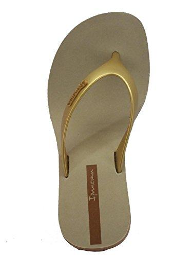 Goma De Ipanema Iv Sandalias Beige Gold Lipstick Thong Mujer 81706 Fem Para S14qRS