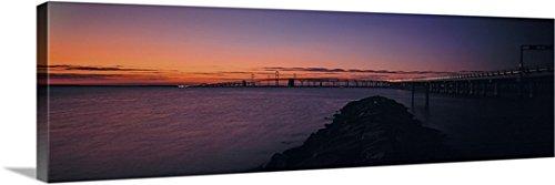 Chesapeake Bay Bridge (Canvas On Demand Premium Thick-Wrap Canvas Wall Art Print entitled Bridge across a bay Chesapeake Bay Bridge Maryland 60