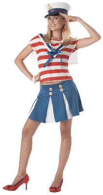Teen Cruise Ship Cutie Sailor Costume - Teen 7-9