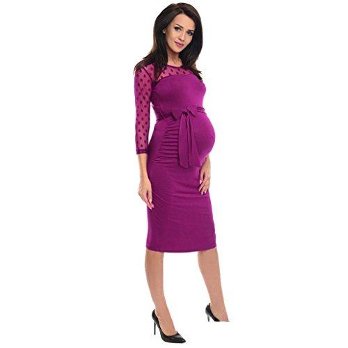 Vestidos de invierno, Dragon868 Mujeres Polka Dot Lace Maternity Ruched Bodycon vestido de embarazo: Amazon.es: Ropa y accesorios