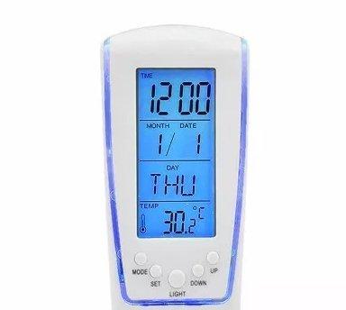 c5f2e26ce6c Relógio De Mesa Led Azul Digital Hora Data Temperatura  Amazon.com ...