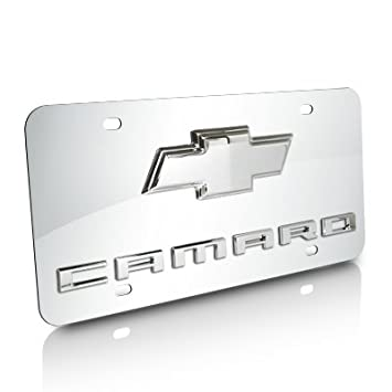 Chevy Logo License Plate Black Chevrolet Aluminum Embossed Sign Car Tag Auto GM
