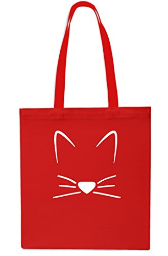 Bag Black Meow Shopping Beach Gym Kitten Cat Tote litres Red Whiskers x38cm 42cm 10 px7q0Up
