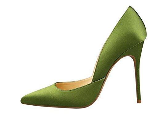 Talons Femme Wuiwuiyu Vert Aiguilles Chaussure À Sexy Mode Escarpin Soirée Pointus wf8fUqdR