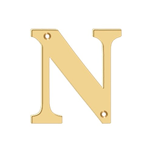 (4 in. Solid Brass Residential Letter (Set of 10) (N - PVD))