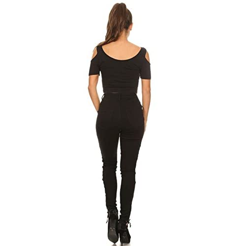 0dc475efafc cheap Monotiques Women s High Rise Sides Lace Up Skinny Jeans ( Regular and Plus  Size )