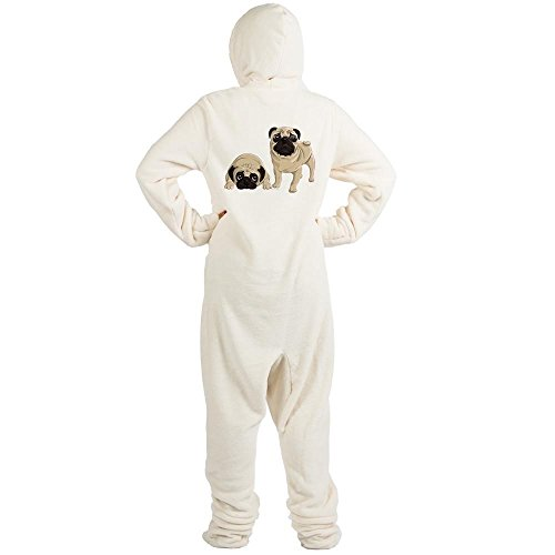 CafePress Pugs Novelty Footed Pajamas, Funny Adult One-Piece PJ Sleepwear Creme for $<!--$39.95-->