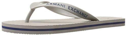 A | X Armani Uitwisseling Heren Armani Uitwisseling Solide Flip-flop Legering / Diep Blauw