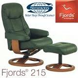 シモンズ 正規品 フィヨルド リクライニングチェア 215 Rベースチェア Fjords215 シモンズ レザー コンフォート ラグジュアリー 書斎 くつろぎ