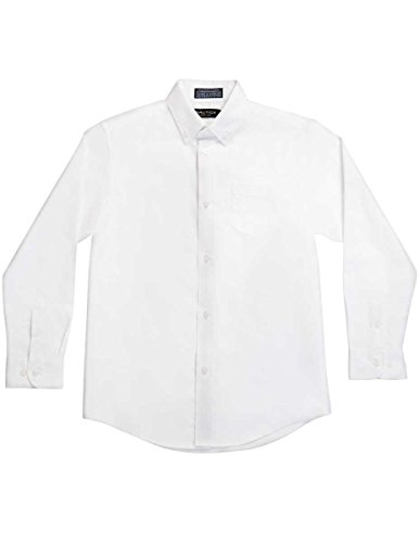 Nautica Boys 8-20 Oxford Shirt,White,8 (White Shirt Ton)