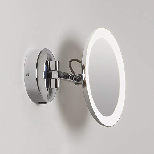 Astro Lighting Mascali Round LED Mirror x5 Magnification Wall Lamp for Bathroom -