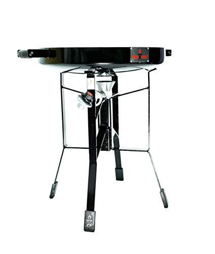 FireDisc - Deep 24'' Backyard Plow Disc Cooker - Jet Black | Portable Propane Outdoor Camping Grill