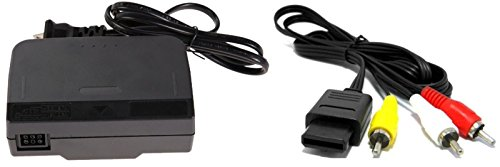 Video Game Accessories AC ADAPTER POWER SUPPLY & AV CABLE CORD FOR NINTENDO N64 BUNDLE (BRAND NEW)