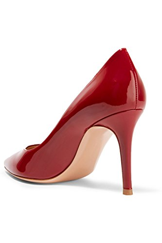 A Escarpins Femmes Grande Taille Pointues Des Rouge Heels Quotidiennement Chaussures Enfiler High Ubeauty Toe 501xw5