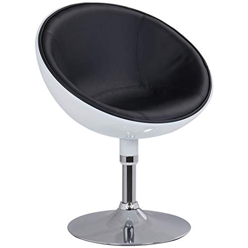 Duhome Retro Vanity Lounge Chair Swivel PU Leather Seat + ABS 2 Tone ()