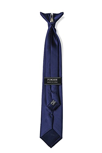 - Mens Clip on Ties Solid Uniform Clip-on Neck Ties for Police and Security Pullaway Clip Ties (Navy Blue)